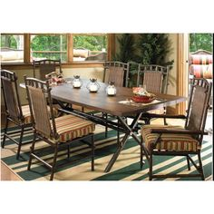 Woodard Chatham Patio Dining Chair with Cushion Fabric: Sunbrella Flagship Pistachio