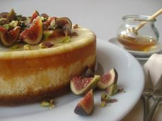 Goats Cheese Cake with Figs & Honey    BEST CHEESECAKE EVER MADE I'M SORRY BUT THIS ISN'T FOR THOSE OF YOU WHO FREQUENT APPLEBEES TGIFRIDAYS OR TONY ROMAS LMAO YOUR PALETTE WILL NEVER BE REFINED ENOUGH FOR ANYTHING BUT PROCESSED CRAP AND YOUR CHILDREN WILL BE BORN AUTISTIC