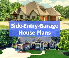 The side-entry garage may be the right option for your next home. Garage House Plans, Craftsman House Plans, Portable Garage, Courtyard Entry, The Gables, Next At Home, Architecture Details, Curb Appeal, Exterior Design