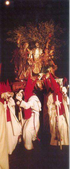 Semana Santa 1999 Hermandad de San Pedro Apóstol Fotografía de Ramón Herráiz Postal editada por Tomebamba Ediciones en la Semana Santa de 1999 #SemanaSanta #Cuenca #HermandadSanPedroApostol