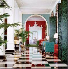 kensington bliss: Dorothy Draper Drama: Legendary Greenbrier Resort FLOOR!