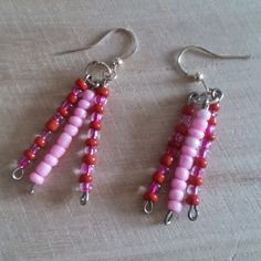 Fun red and pink fork earrings  £2.55
