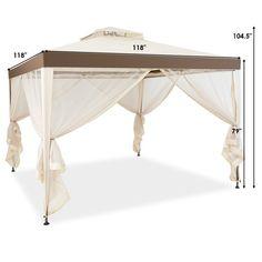 Gazebo Canopy, Gazebo Pergola, Outdoor Gazebos, Canopy Outdoor, Canopies, Bungalow, Roof Design, Outdoor Parties, Outdoor Life