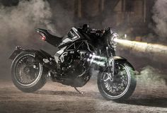 Luxury motorcycle maker MV Agusta has created a new special vehicles division, and the first bike to come from the Italian brand's new arm dubbed the Reparto V Indian Motorcycles, Triumph Motorcycles, Custom Motorcycles, Concept Motorcycles, Moto Scrambler, Moto Bike, Motorcycle News, Girl Motorcycle, Bobber Motorcycle