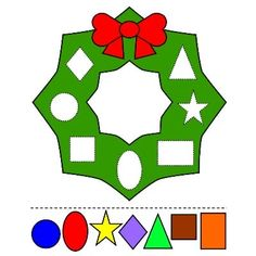 Christmas Wreath Colors and Shapes Preschool Printable Activity and Craft - Winter break humor,Winter break college,Winter break quotes Preschool Christmas Activities, Preschool Learning Activities, Preschool Lessons, Preschool Printables, Toddler Activities, Preschool Activities, Preschool Shapes, Shapes For Kids, Kids Christmas