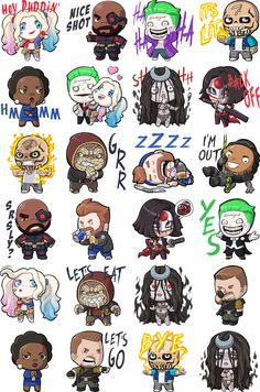Suicide Squad Facebook Stickers