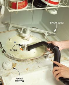 Clean the filter and float switch if the dishes don't come out clean.