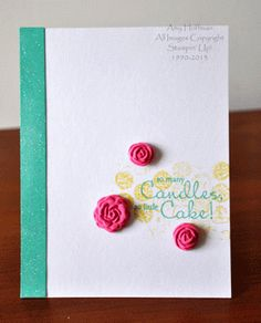 Stamp and Scrap with Amy: Clean and Simple FTL256 Birthday Card Stampin' Up!, Simply Pressed Clay, Bring on the Cake, Bubble Wrap Stamping www.stampandscrapwithamy.blogspot.com