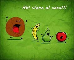 fruits #coco #divertido #frutas
