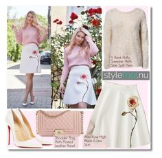 """""""Blogger Styling StyleMoi.nu"""" by fattie-zara ❤ liked on Polyvore featuring Wild Rose and Christian Louboutin"""
