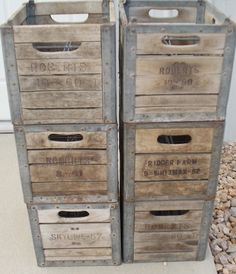 Vintage Old Wood And Metal Milk Crate Stackable Wine By Luvredford 45 00