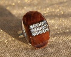 Anello regolabile resina perline conchiglie strass от 100rings