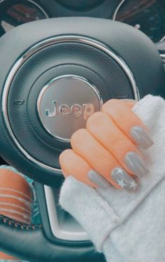 Most Sexy and Trendy Prom and Wedding Acrylic Nails and Matte Nails for this Season - Amately Simple Acrylic Nails, Best Acrylic Nails, Acrylic Nail Designs, Star Nail Designs, Simple Nail Designs, Nail Swag, Aycrlic Nails, Star Nails, Cute Gel Nails