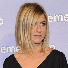 Long Bob With Face Framing Layers Ends Just Under The