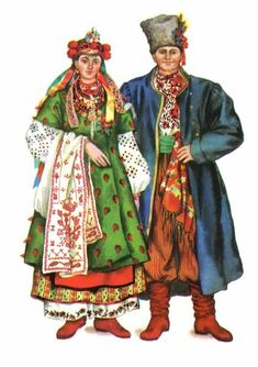 Ukrainian traditional wedding dresses; Kyiv region south. Late XIX - early XX century.