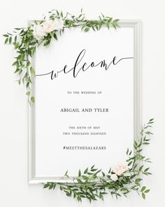"Wedding Welcome Sign, 24x36"", 20x30"", Portrait or Landscape"