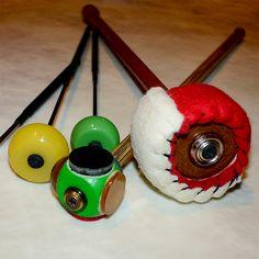 special experimental FS mallets Percussion, Christmas Ornaments, Holiday Decor, Handmade, Hand Made, Christmas Jewelry, Christmas Decorations, Christmas Decor, Handarbeit