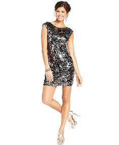 Speechless Juniors' Sequin Dress - Juniors Dresses - Macy's