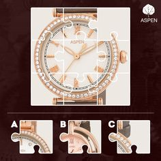 So which is the missing piece that will complete this Aspen watch? #aspen #watch #puzzle
