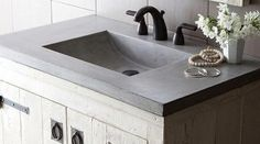 Image result for using stone as bathroom sink and countertop
