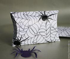 """Купить """"Паутина"""" упаковка - чёрно-белый, паутина, паук, Хэллоуин, праздничное украшение, подарок, упаковка"""