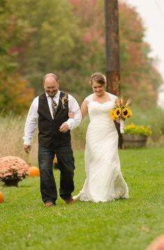 Father Daughter Outdoor Camo Wedding