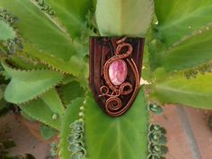 Rhodochrosite Pendant. Necklace.
