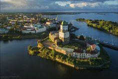 Vyborg Castle in the Leningrad region, Russia