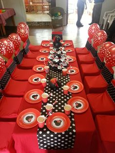 Red , white and black Minnie Mouse party