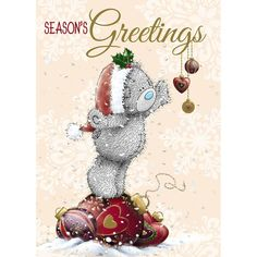 Tatty Teddy Reaching For Decorations Me to You Bear Christmas Card £1.79