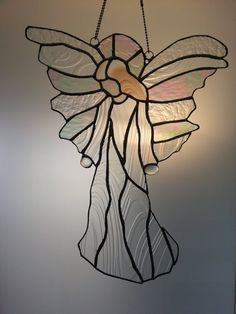 Beautiful Angel Stained Glass Suncatcher by vetrocolorato on Etsy