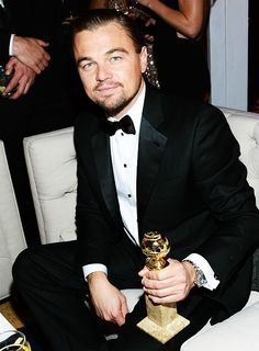 Leonardo DiCaprio attends The Weinstein Company & Netflix 2014 Golden Globes After Party