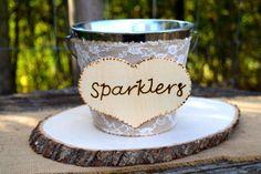 Wedding Sparklers Bucket  Rustic Wedding  Large by CountryBarnBabe