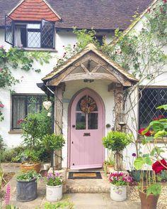 Pin by jo bennett on secret garden inspiration cottage door, cottage porch, Cottage Door, Rose Cottage, Cottage Exterior, Cottage Living, House With Porch, House Front, Cottage Front Porches, Garden Design Ideas Videos, Garden Ideas