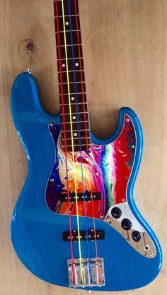 I love the pick guard Fender Bass Guitar, Guitar Amp, Beautiful Guitars, Guitar Design, Custom Guitars, Electric Guitars, Musical Instruments, Rock, Christmas