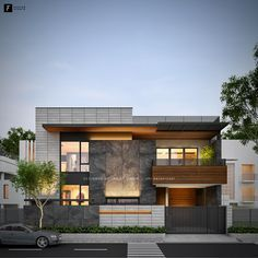 49 Digvijay Nagar - Jodhpur on Behance House Outside Design, House Front Design, Design Your Dream House, Modern Family House, Modern Bungalow House, Modern Exterior House Designs, Modern House Facades, 2 Storey House Design, Bungalow House Design