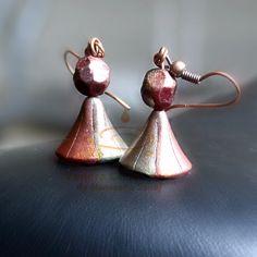 #conical #jumka #skinnerblend #micapowder #handmade #earrings Maneesha