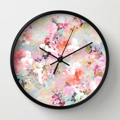 Love+of+a+Flower+Wall+Clock+by+Girly+Trend+-+$30.00