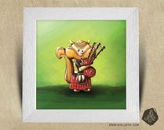 Cadre carré 25x25 avec Illustration Petit écureuil cornemuse pour Chambre Enfant bébé Disponible sur ma boutique ALittleMarket : http://stillistic.alittlemarket.com © Stillistic - Tous droits réservés. #stillistic #illustration #sketch #drawing #creative #digitalart #graphic #childrenillustration #artwork #cute #handmade #faitmain #alittlemarket  #creation #deco #imagination #creatrice http://www.stillistic.com