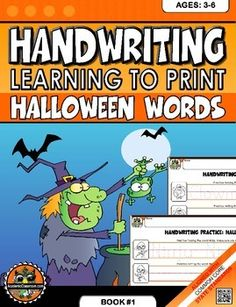 Handwriting+Practice:+Learn+to+Print+Halloween+Words+Ages:3-6Words+IncludedAlien,+Angel,+astronaut,+bat,+clown,+Dracula,+elf,+fairy,+ghost,+hat,+Indian,+jack-o-lantern,+kimono,+leprechaun,+monster,+ninja,+owl,+pirate,+Queen,+robot,+skull,+tombstone,+unicorn,+vampire,witch,+wizard,+X-ray+Vision,+yeti,+zombieRELATED+PRODUCT!Learn+to+Write+Uppercase+&+Lowercase+Alphabets+{NO+PREP+Practice+WorksheetsLearn+to+Write+Uppercase+&+Lowercase+Alphabets+{NO+PREP+Practice+WorksheetsGET+SPECIAL+AN...
