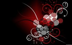 black, white and red hearts