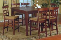 Modern Counter Height 7 Pc Pub Bar Dining Table Set aoeui *** Read more  at the image link.Note:It is affiliate link to Amazon.