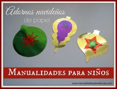 #Adornos de #Navidad para #niños / Kids #crafts: #Christmas #ornaments / Décorations de #Noël pour #enfants http://www.manualidadesytendencias.com  #manualidades #manualidades #papier #papel #paper #fácil #créatif #projet #diy