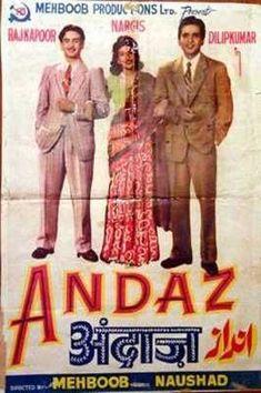 1951-Andaz movie poster