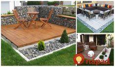 Úžasné nápady, ako si vylepšiť sedenie na záhrade pomocou obyčajného štrku a kameňov. Inšpirujte sa a už túto sezónu sa vám bude na záhrade odpočívať ako v raji! Outdoor Furniture Sets, Outdoor Decor, Outdoor Projects, Patio, Garden, Home Decor, Landscapes, Ice Cream, Paisajes