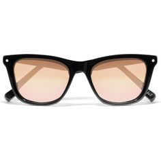 Elizabeth and James Campbell wayfarer-style acetate mirrored... (460 BRL) ❤ liked on Polyvore featuring accessories, eyewear, sunglasses, elizabeth and james, glasses, black, mirrored wayfarers, mirrored glasses, mirrored lens sunglasses and mirror lens sunglasses