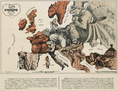 Cartoon Map of Europe in 1914 | The Public Domain Review