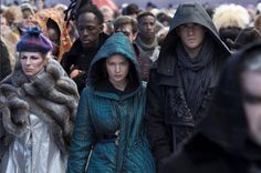 The part when they go out into the crowd after being in the shop! #MockingJayPart2!