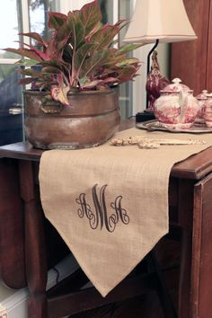 Burlap Runners | Initial Outfitters