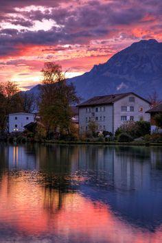 Interlaken Sunrise, Switzerland O yes where were here too. 2004 trip with Church.